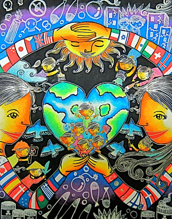 Art For Peace Contest A World With Unity And Love A World Without